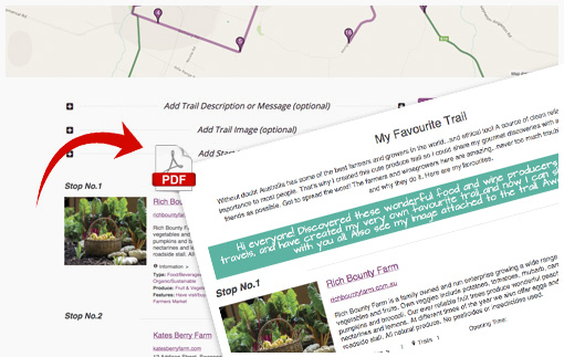 It's so simple to plan and customise trails with friends, family and teams